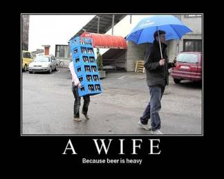 Because beer is heavy