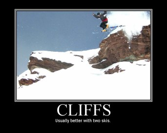 Usually better with two skis