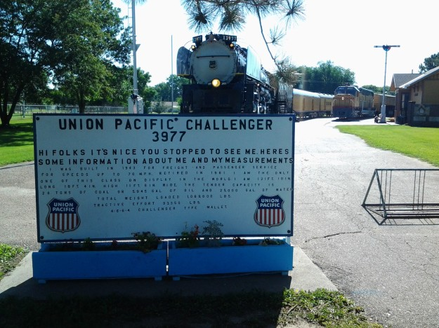 Union Pacific Challenger 3977 - Union Pacific Exhibit at Cody Park