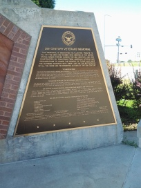 Twentieth Century Veterans' Memorial Plaque, North Platte, NE