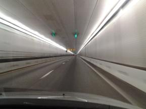 Eisenhower Memorial Tunnel. I-70 West, Colorado