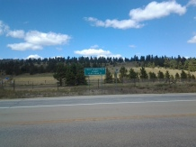 The road to Monarch Pass, Colorado