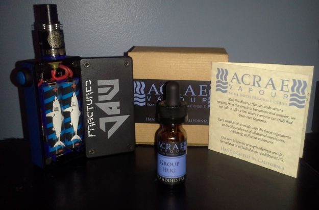 Acrae Vapor's Group Hug (6MG) with a Parallel 18650 Fractured Jaw from Modz by Nasy