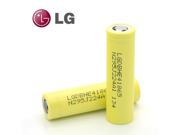 LG HE4 18650 Battery - 20A Continuous, 2500 mAh